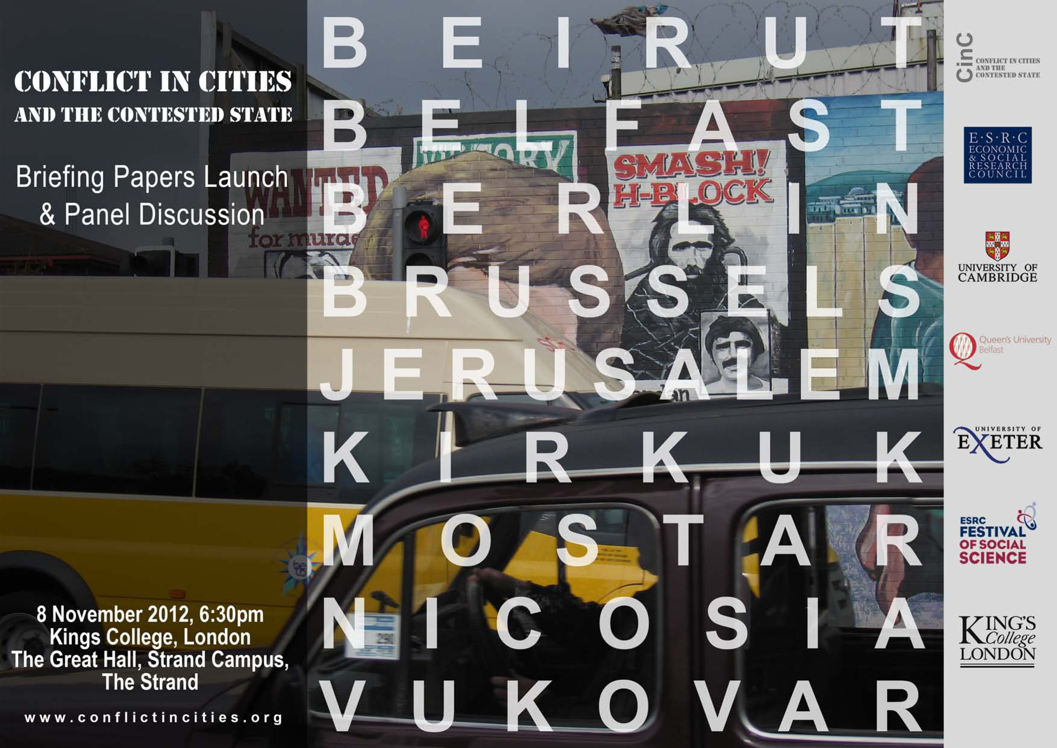 Conflict in Cities Exhib poster