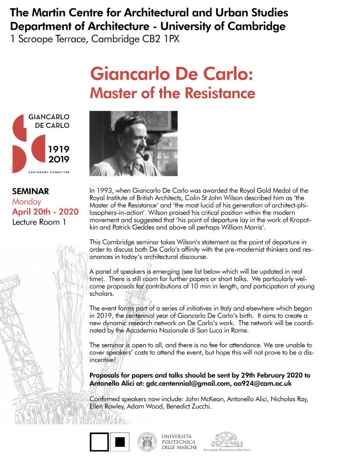 Giancarlo di Carlo seminar poster