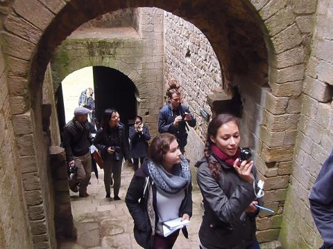at castle