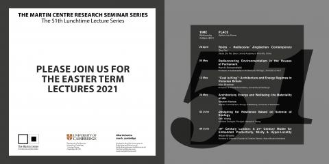 Martin Centre Seminars termcard Easter 2021