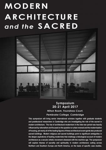 Modern Architecture and the Sacred Cambridge Programme Poster
