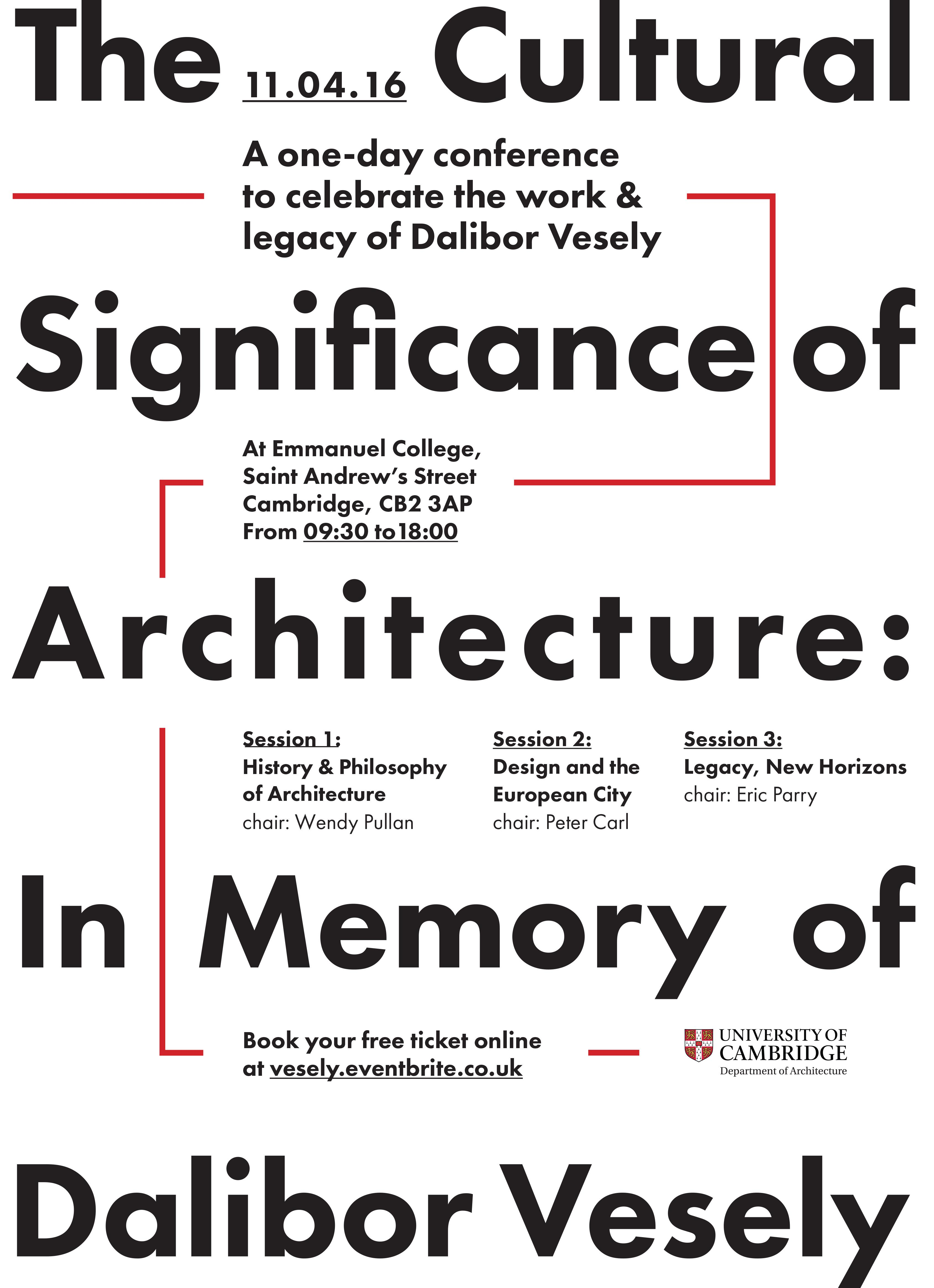 Dalibor Vesely Conference Poster