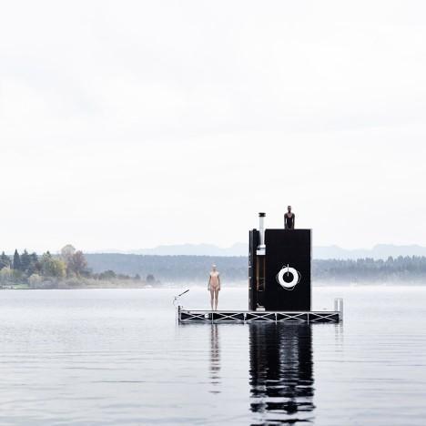 Alumna Aimée O'Carroll of goCstudio wins AIA National Small Projects award for a floating sauna design